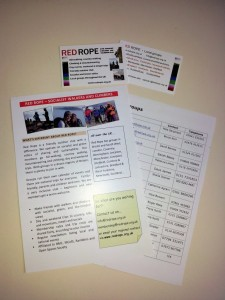 Publicity leaflets